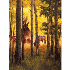Deep Forest Camp - 500pc Jigsaw Puzzle by SunsOut