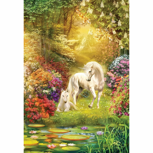 Enchanted Garden Unicorns - 500pc Jigsaw Puzzle by Sunsout