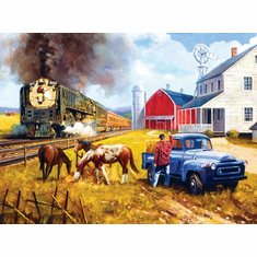 Farm by the Line - 1000pc Jigsaw Puzzle by SunsOut