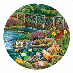 Field Cats - 1000pc Jigsaw Puzzle by SunsOut