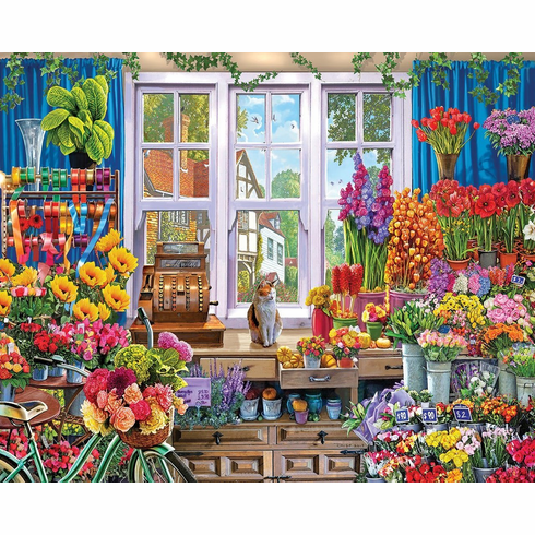 Flower Shoppe - 1000pc Jigsaw Puzzle By White Mountain