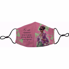 FM03 Pink and Green Face Mask
