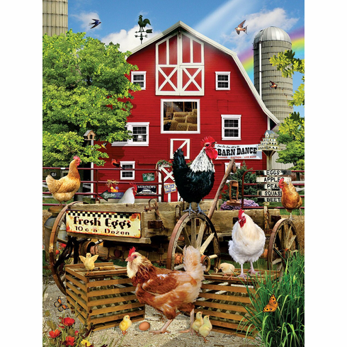 Fresh Eggs - 500pc Jigsaw Puzzle by Sunsout