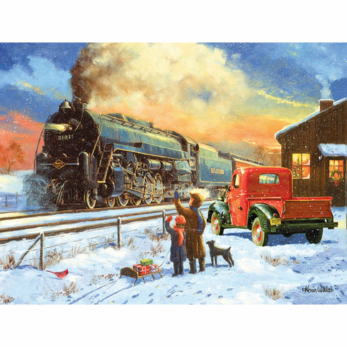 Going Home for Christmas - 500pc Jigsaw Puzzle by SunsOut