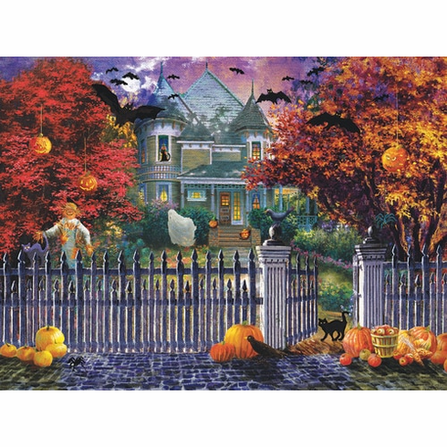 Halloween House - 1000pc Jigsaw Puzzle by Sunsout