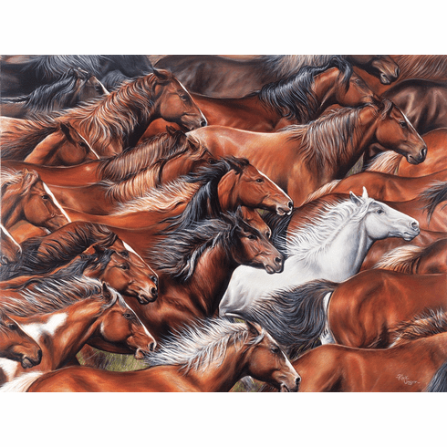 Horse of a Different Color - 500pc Jigsaw Puzzle By Sunsout