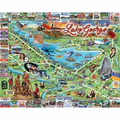 I Love Lake George - 1000pc Jigsaw Puzzle By White Mountain