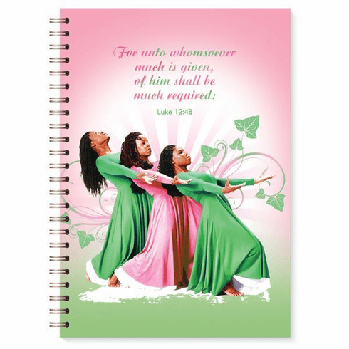 J157 Three Ladies (Pink and Green) Wired Journal