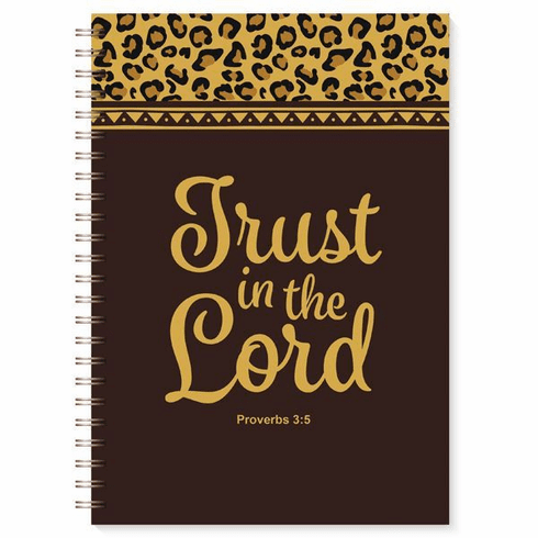 J193 Trust in the Lord Leopard Print Wired Journal