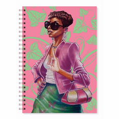 J217 Pink and Green Journal