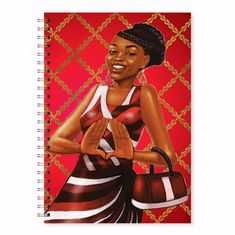 J218 Red and White Journal