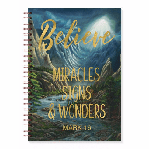 J222 Believe Miracles Signs Wonders Journal