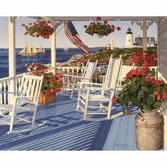 Lighthouse Point - 1000pc Jigsaw Puzzle By White Mountain