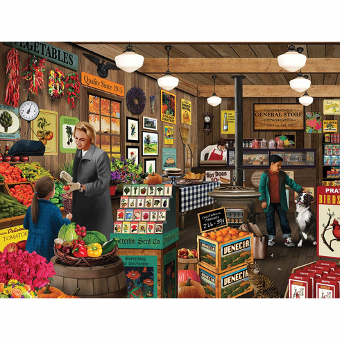 Local Market - 550pc Jigsaw Puzzle By White Mountain NEW
