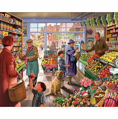 Market Day - 1000pc Jigsaw Puzzle by White Mountain (discon)