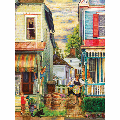 Porch Gossip - 1000pc Jigsaw Puzzle By Sunsout