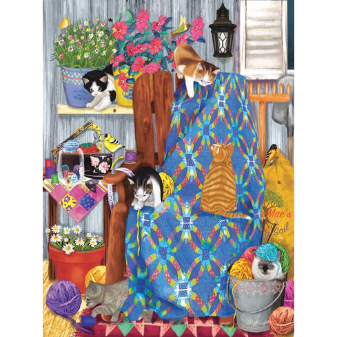 Porch Kittens - 1000pc Jigsaw Puzzle by Sunsout