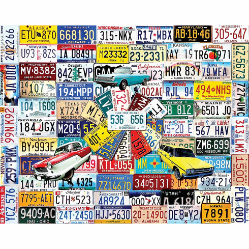 State Plates - 550pc Jigsaw Puzzle By White Mountain