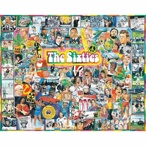The Sixties - 1000pc Jigsaw Puzzle By White Mountain