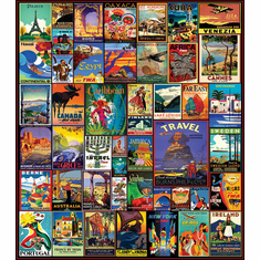 Travel The World - 550pc Jigsaw Puzzle by White Mountain