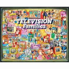 TV Families - 1000pc Jigsaw Puzzle by White Mountain