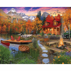 White Mountain New! Cozy Cabin - 1,000 Piece Jigsaw Puzzle