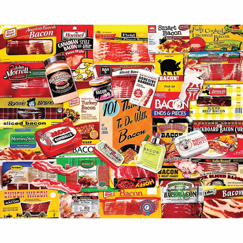 White Mountain Puzzles Bacon 101 - 1000 Piece Jigsaw Puzzle