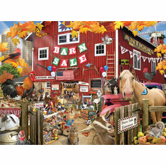White Mountain Puzzles Barn Sale - 1000 Piece Jigsaw Puzzle