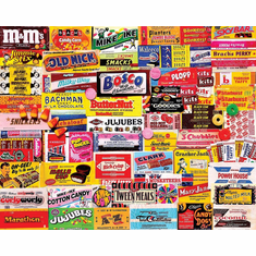White Mountain Puzzles Candy Wrappers - 1000 Piece Collage Jigsaw Puzzle