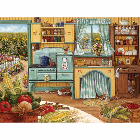 White Mountain Puzzles Country Kitchen - 1000 Piece Jigsaw Puzzle