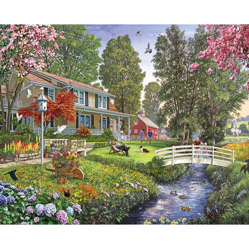 White Mountain Puzzles Sunday Afternoon - 1000 Piece Jigsaw Puzzle