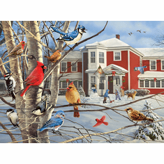 Winter Gathering - 1000pc Jigsaw Puzzle By White Mountain