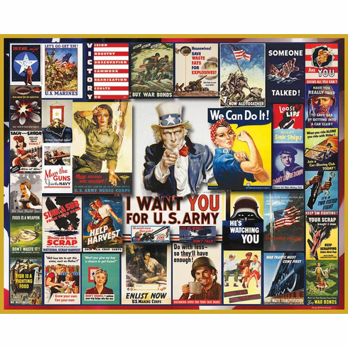WWII Posters - 1000pc Jigsaw Puzzle By White Mountain