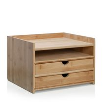 Prosumer's Choice 3-Tier Bamboo Desktop Organizer with 8.5x11 Inch Letter Size Drawers