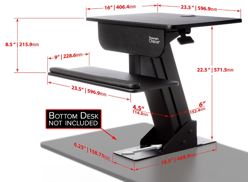adjustable height gas easy lift standing desk sit 88533