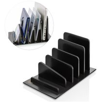 Bamboo 5 Device Tablet and Smartphone Rack Organizer - Black