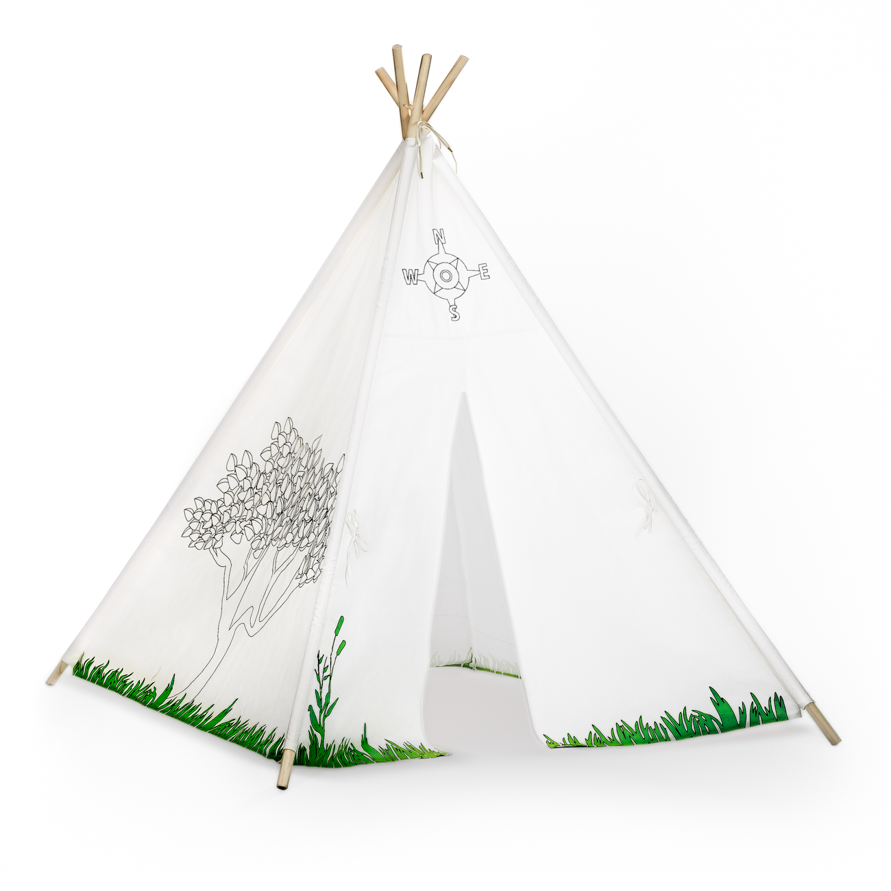 cheaper 63a95 c74fe Kids TeePee Play Tent with Coloring Pattern - Prosumer's Choice