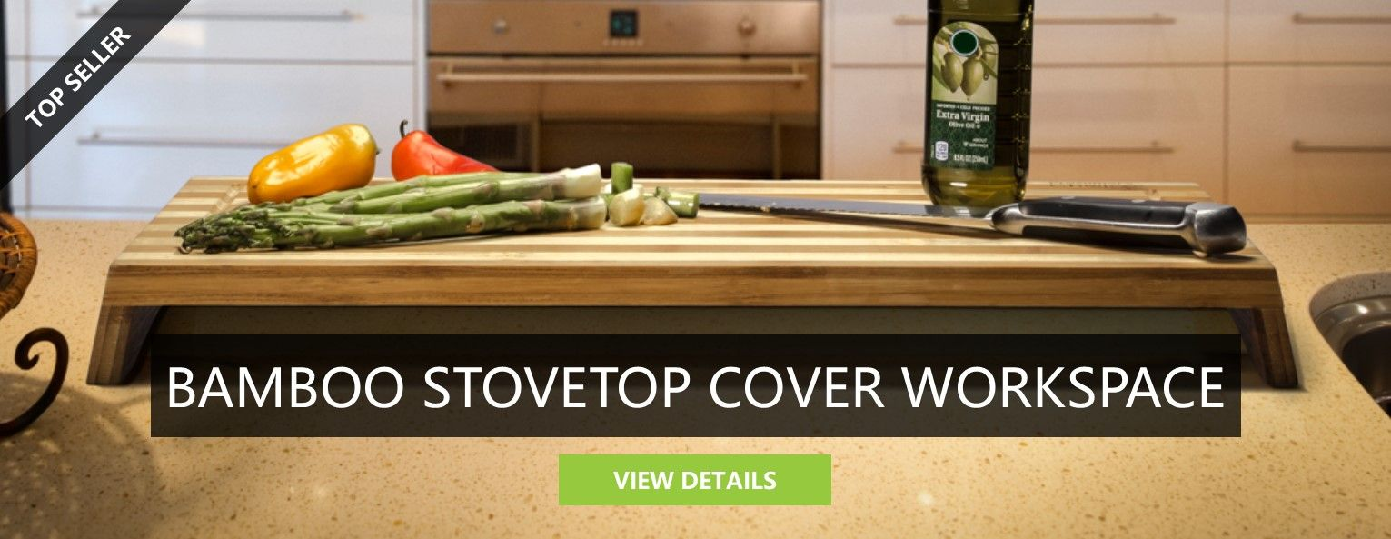 Bamboo Stovetop Cover Workspace