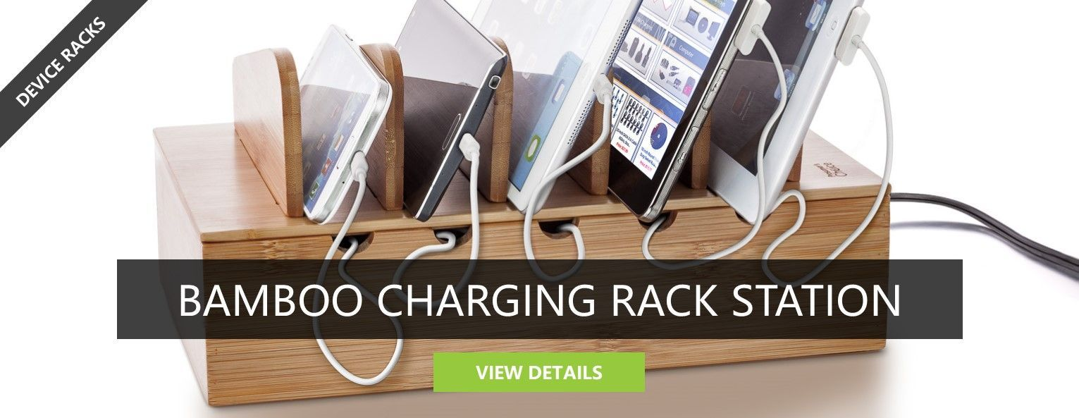Bamboo Charging Rack Station