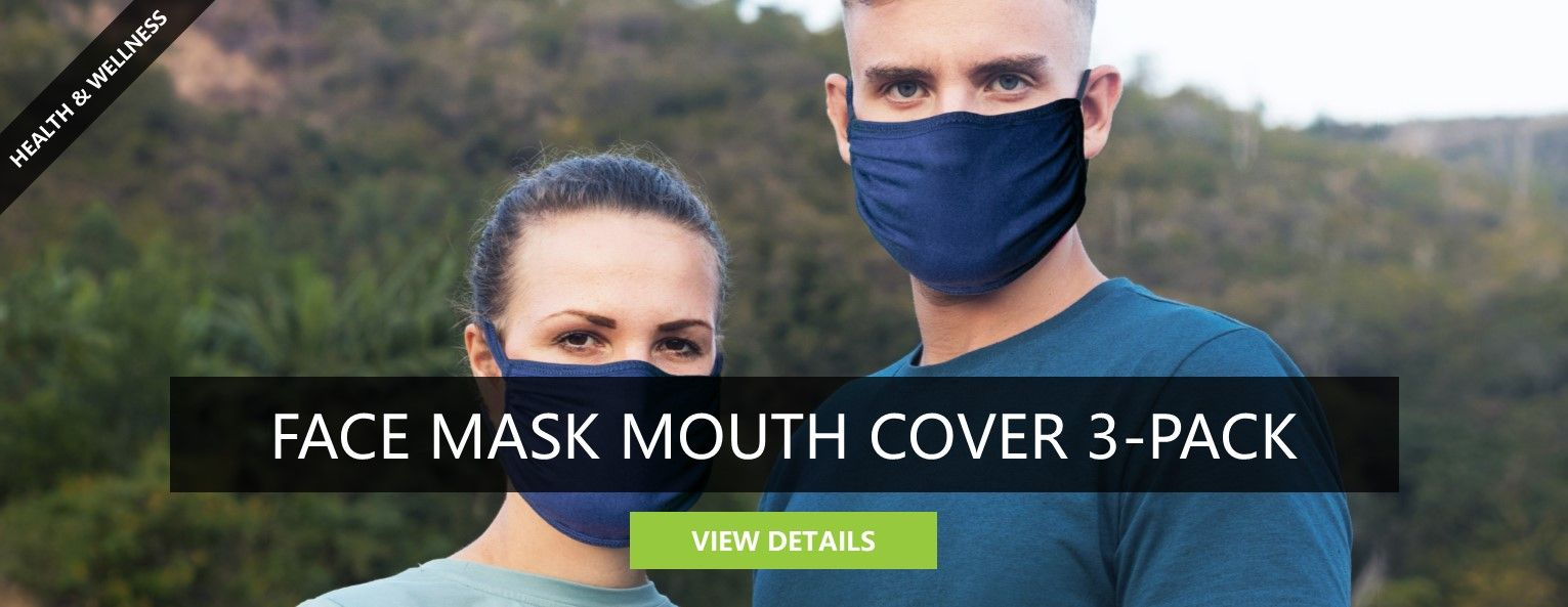 Face Mask Mouth Cover 3-Pack