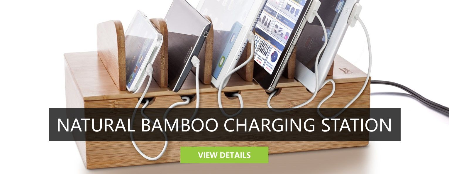 Natural Bamboo<BR>Charging Station