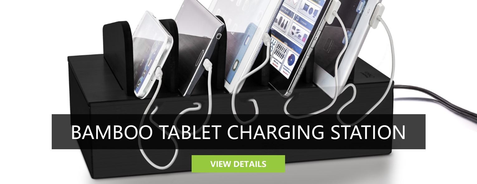 Bamboo Tablet Charging Station