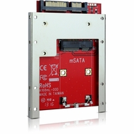"""Latch and Retain mSATA SSD to 2.5"""" SATA Drive Converter with 2.5"""" Frame"""