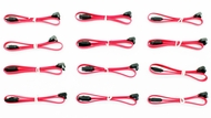 Left Angle to Straight SATA 2.0 Data Cable with Clip, 12in - 12 Pack