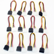 Molex to SATA Power Adapter Cable, 6in - 12 Pack