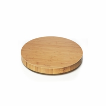 Prosumer's Choice 360 Rotating Swivel Stand for LED LCD TV and Monitors or Kitchen and Crafts 8 Inch, Bamboo