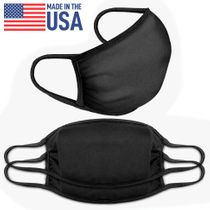 Prosumer's Choice Black Over-Ear Face Mask Mouth Cover - Set of 3