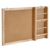 Prosumer's Choice Entryway Cork Bulletin Board and Mail Organizer with Key and Jewelry Hooks