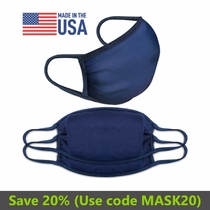 Prosumer's Choice Navy Blue Over-Ear Face Mask Mouth Cover - Set of 3