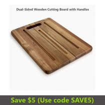 Prosumer's Choice Wooden Dual Sided Cutting Block and Bread Board with Hanger - Reversible